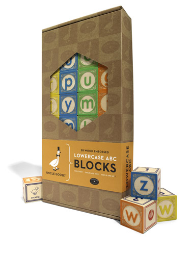 Wooden alphabet blocks from Uncle Goose