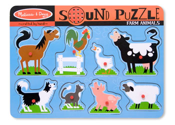 Melissa & Doug Sounds Puzzle - Farm Animals