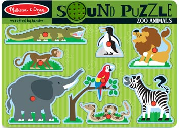 Melissa & Doug Sounds Puzzle - Zoo Animals