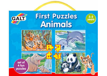 Galt First Puzzles - Animals set of 4