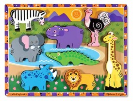 Melissa & Doug Chunky Safari Animals wooden puzzle