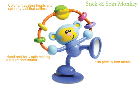Infantino Stick and Spin Monkey High chair toy