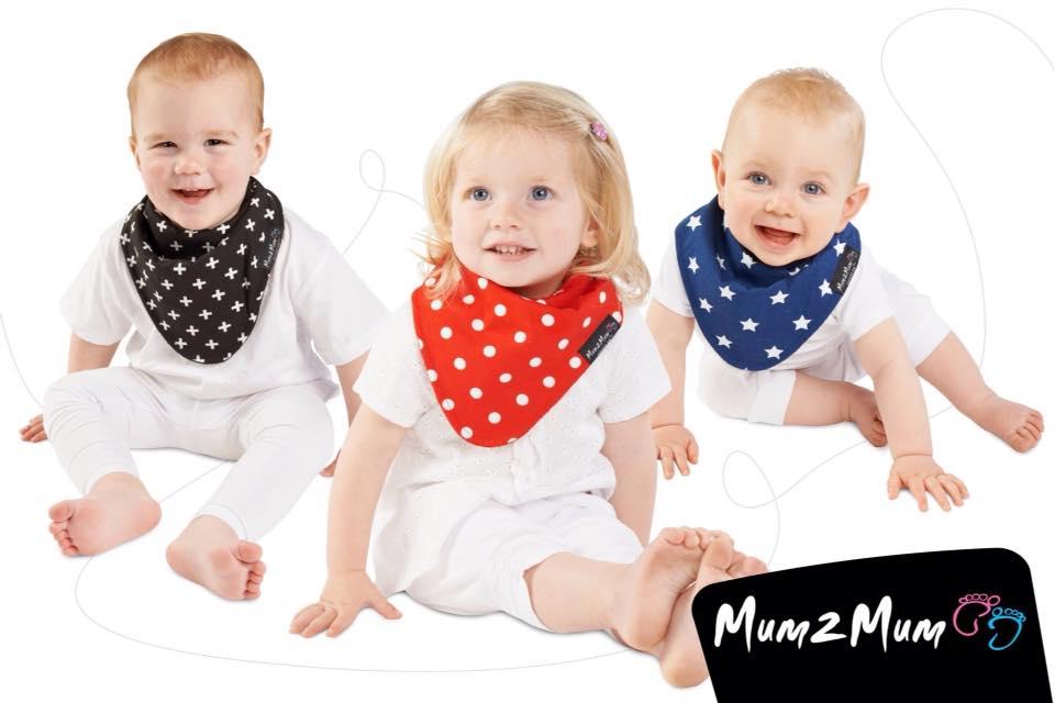 Mum2Mum reversible Cotton bandana bibs