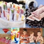 Reusable zip top ice pop pouch 18s