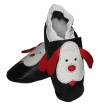 Black Dog soft sole leather baby shoe