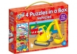 Vehicle puzzles - set of 4 from Galt