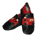Fire Truck soft sole leather baby shoe