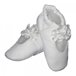 White Rose soft sole leather baby shoe