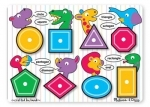 Melissa & Doug - Wooden Shapes Peg Puzzle