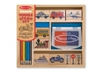 Melissa & Doug Vehicles Wooden Stamp Set