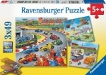Ravensburger 3 x 49 puzzles - Moving vehicles
