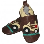 Timmy the Tractor soft sole leather baby shoe