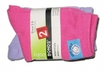 Grip Sole socks 2 prs - Pink & Lilac Size 2-5