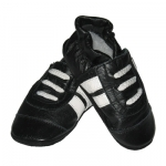 Black Trainer soft sole leather baby shoe