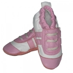 Pink Trainer soft sole leather baby shoe