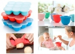Silicone baby bibs with food tray