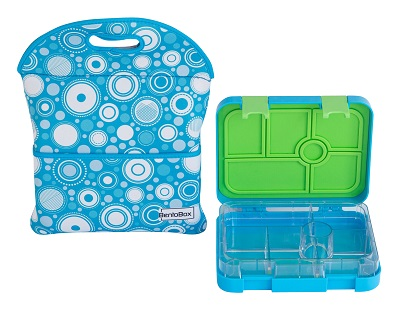 BentoBox sectioned lunch box with neoprene sleeve COMBO